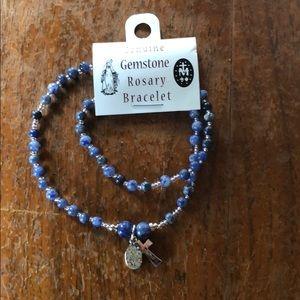 Gemstone bracelet rosary